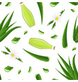 realistic detailed 3d aloe vera product seamless vector image vector image