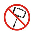 selfie forbidden icon with no sign isolated on vector image vector image