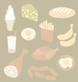 set meal vector image vector image