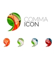 Set of abstract comma icon business logotype vector image