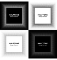 Set of Abstract Halftone Square Frame Backgrounds vector image vector image