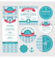 Set of marine wedding cards vector image vector image
