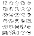 Set of thirty hand drawn emoticons or vector image
