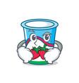 smirking yogurt character cartoon style vector image vector image