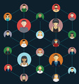 Social Media Circles Network Icon vector image