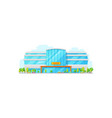 sport center isolated stadium building vector image vector image