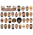 superset 30 hipsters bearded men vector image vector image