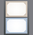 template certificate gift voucher coupon frame vector image vector image