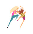 two girls fighting and quarrelling aggressive and vector image vector image