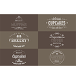 Typography bakery t-shirt design set vector image vector image
