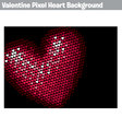 Valentine pixel heart background vector | Price: 1 Credit (USD $1)