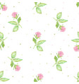 watercolor hand drawn pink english rose seamless vector image vector image