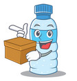 with box bottle character cartoon style vector image