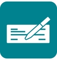 Write Cheque vector image vector image