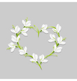 Floral heart with snowdrops vector image