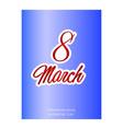 8 march ribbon postcard vector image vector image