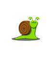 a shy snail is a cute a cartoon vector image vector image