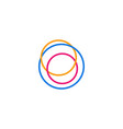 abstract circle line logo icon vector image vector image