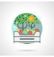 Apples box detail flat color icon vector image