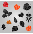 autumn leaves background black leaves ag vector image vector image
