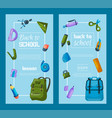 back to school set of banners kids school vector image