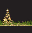 background with golden abstract christmas tree vector image vector image