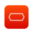 bicycle chain icon digital red vector image vector image