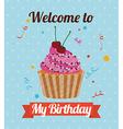 birthday invitation vector image vector image