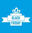 black friday ribbon icon white vector image vector image