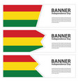 bolivia flag banners collection independence day vector image vector image