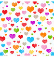 bright seamless valentine pattern of multicolored vector image vector image