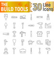 build tools thin line icon set construction signs vector image vector image