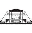 building of musical stage vector image vector image