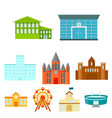 building set icons in cartoon style big vector image vector image