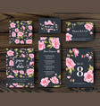 bundle save the date and rsvp invitation card vector image vector image