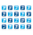 business and insurance icons vector image vector image