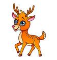 cartoon deer isolated vector image vector image