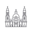 cathedral church line icon sign vector image vector image