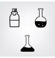 chemistry bottles vector image vector image