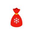 christmas present bag isometric object vector image vector image