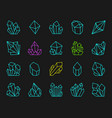 crystal simple color line icons set vector image vector image