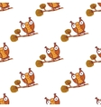 Cute little owls Seamless pattern vector image vector image