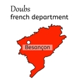 Doubs french department map vector image vector image