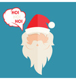 Flat design of Santa Claus vector image vector image