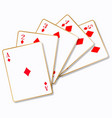 flush playing cards vector image vector image