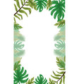 frame leaves tropical foliage background vector image vector image