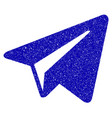 freelance paper plane icon grunge watermark vector image