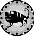 funny Chinese horoscope tiger vector image vector image