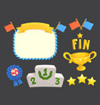 game rating icons with stars element flags vector image