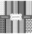 Geometric grey Seamless Patterns Set vector image vector image